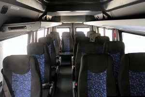 Аренда пассажирского микроавтобуса Мерседес Спринтер Классик серого цвета